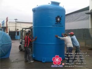 Tangki air fiberglass silinder